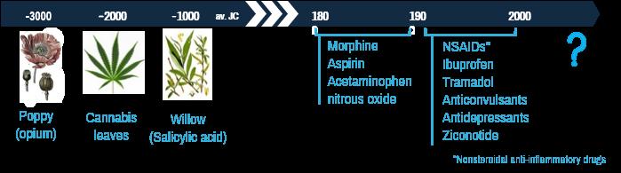 Timeline of pain treatment ANALGESIA