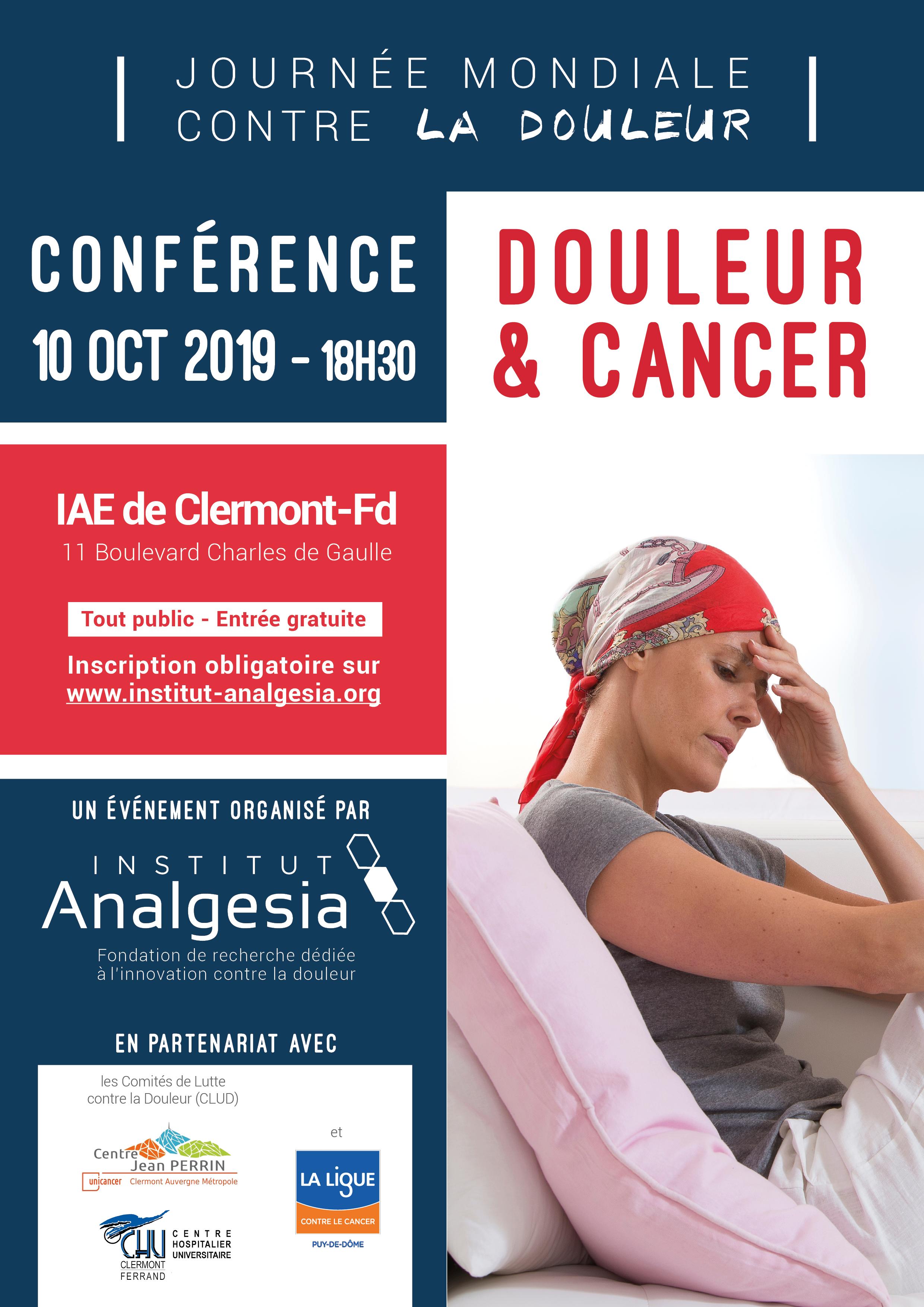 Invitation conférence Douleur & Cancer