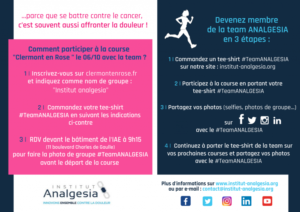 #TeamANALGESIA Clermont en Rose 2